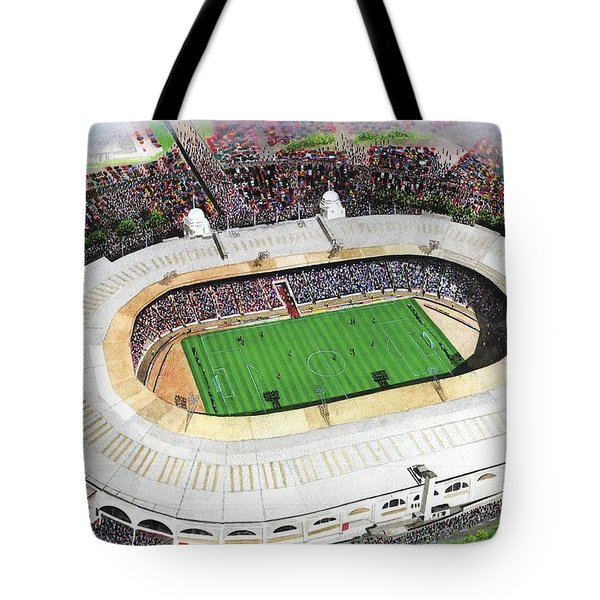 Wembley Stadium Tote Bag by Kevin Fletcher