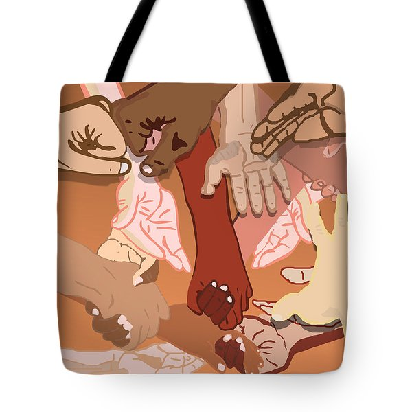 We're All In This Together Tote Bag by Pharris Art