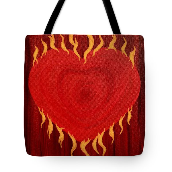 Were Not Our Hearts Burning Within Us Tote Bag by Michele Myers