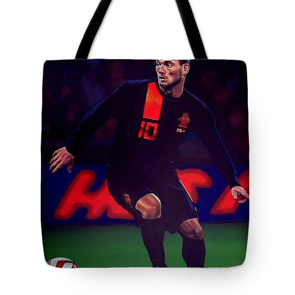 Wesley Sneijder  Tote Bag by Paul  Meijering