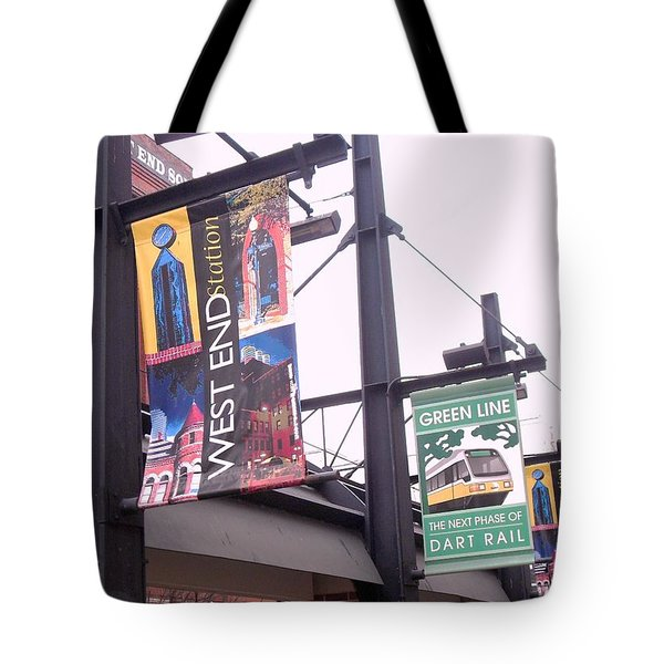 West End Station Dallas Dart Rail Tote Bag by Donna Wilson