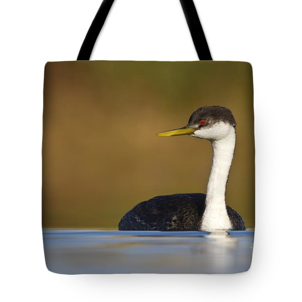 Western Grebe On The Lake Tote Bag by Bryan Keil