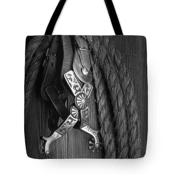 Western Spurs Tote Bag by Tom Mc Nemar