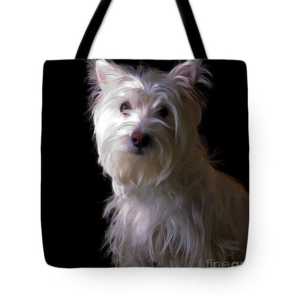 Westie Drama Tote Bag by Edward Fielding