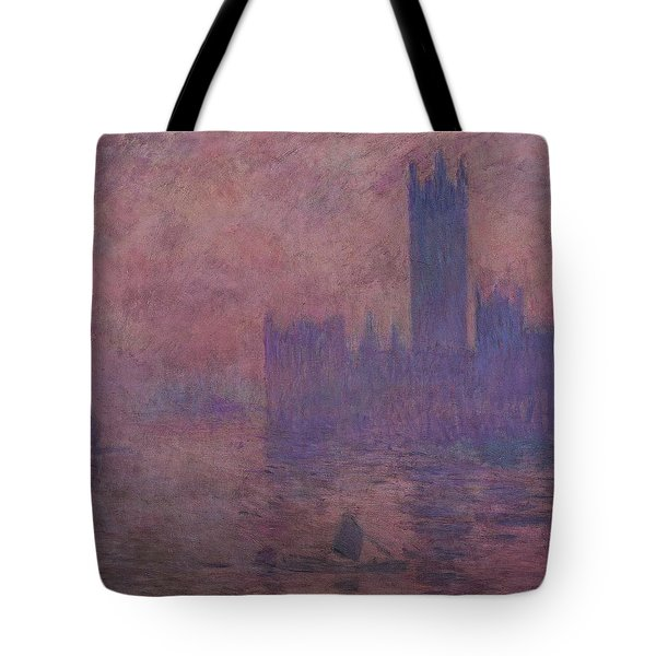 Westminster Tower Tote Bag by Claude Monet