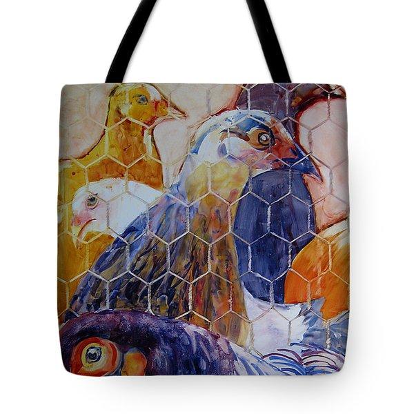 Wet Hens Tote Bag by Kris Parins