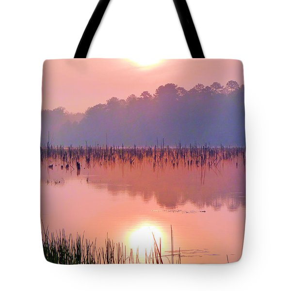 Wetlands Sunrise Tote Bag by JC Findley