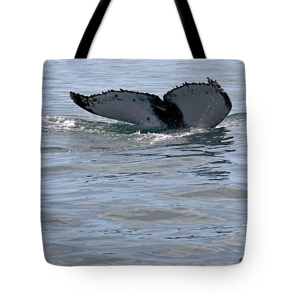 Whale Tail Tote Bag by Bob Hislop