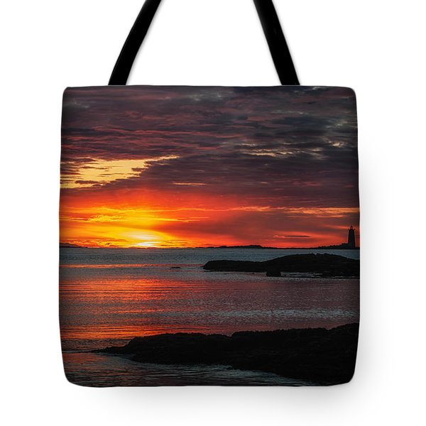 Whaleback Lighthouse Tote Bag by Scott Thorp