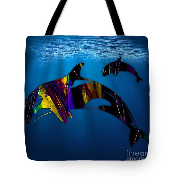 Whales Tote Bag by Marvin Blaine