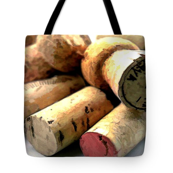 What A Corker Tote Bag by Elaine Plesser