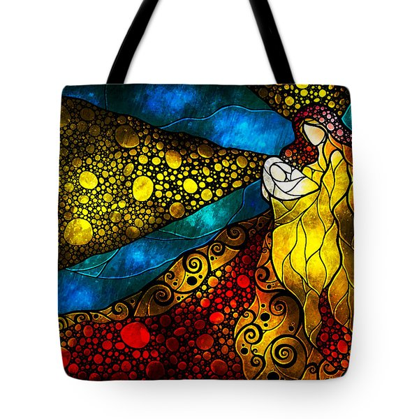What Child Is This Tote Bag by Mandie Manzano