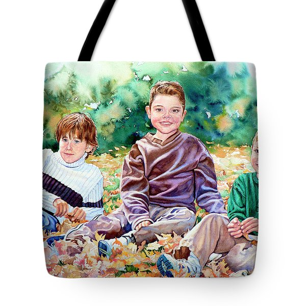 What Leaf Fight Tote Bag by Hanne Lore Koehler
