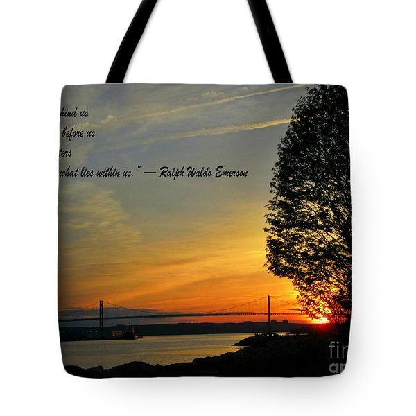 What Lies Within Tote Bag by Crystal Loppie
