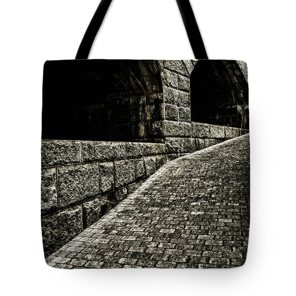 What Lurks Around The Corner Tote Bag by Karol Livote