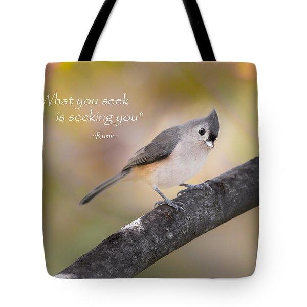 What You Seek Tote Bag by Bill Wakeley