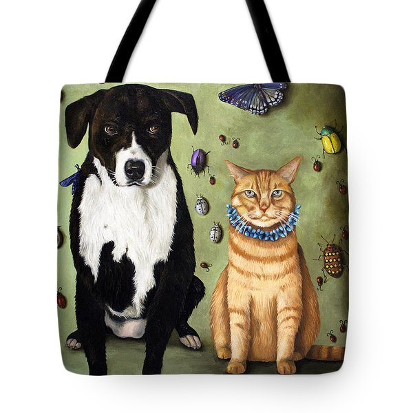 What's Bugging Luke And Molly Tote Bag by Leah Saulnier The Painting Maniac