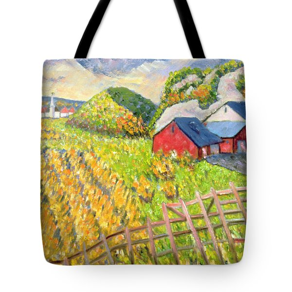 Wheat Harvest Kamouraska Quebec Tote Bag by Patricia Eyre