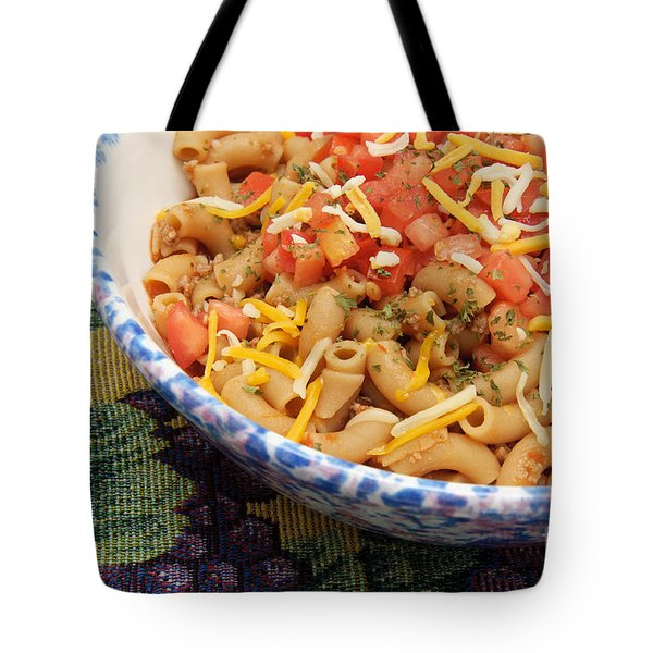 Wheat Pasta Goulash Tote Bag by Andee Design