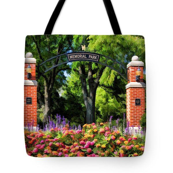 Wheaton Memorial Park Tote Bag by Christopher Arndt