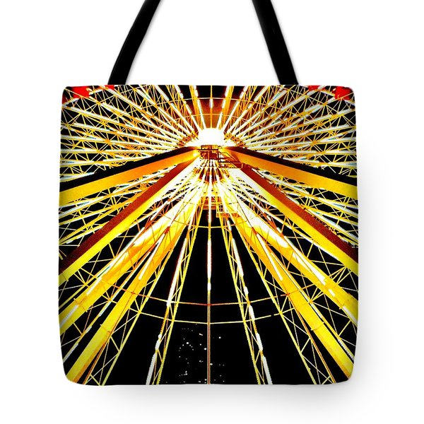Wheel Of Light Tote Bag by Benjamin Yeager