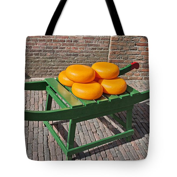 Wheels of Dutch Gouda Cheese Tote Bag by Artur Bogacki