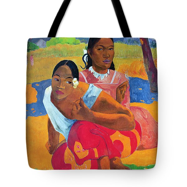 When Are You Getting Married Tote Bag by Paul Gauguin