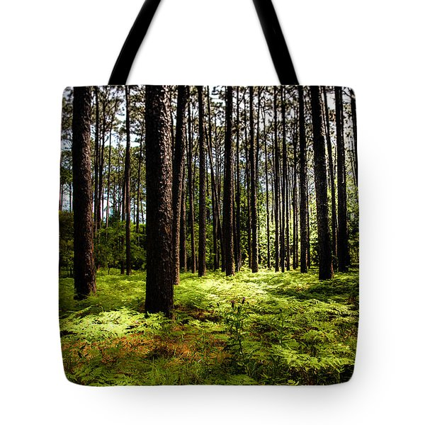 When The Forest Beckons Tote Bag by Karen Wiles
