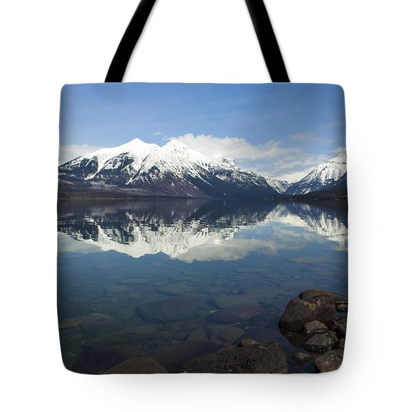 When The Sun Shines On Glacier National Park Tote Bag by Fran Riley