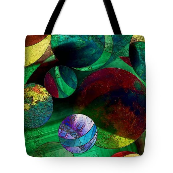 When Worlds Collide Tote Bag by RC DeWinter