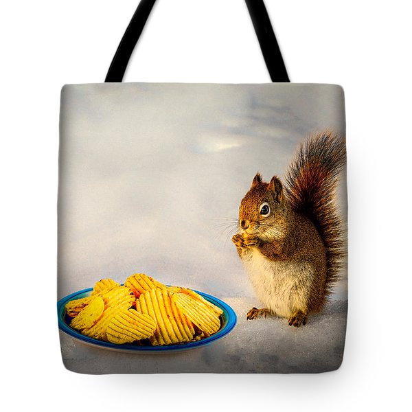 When you lose your nuts there is always chips Tote Bag by Bob Orsillo