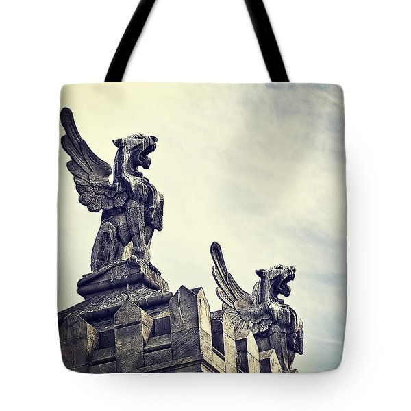 Where The Lions Roar Tote Bag by Ivy Ho