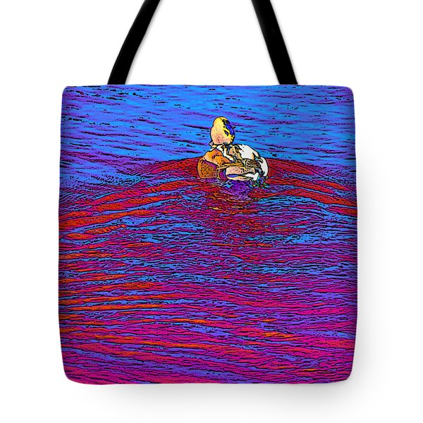 Whirl Of Colored Suns Tote Bag by Lenore Senior