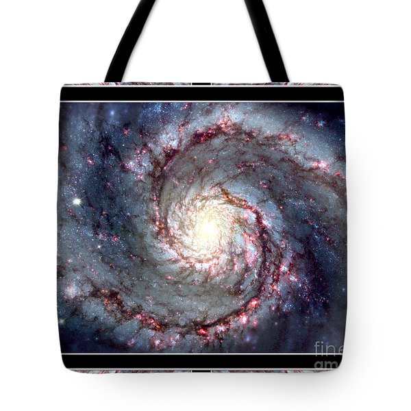 Whirlpool Galaxy Self Framed Tote Bag by Rose Santuci-Sofranko