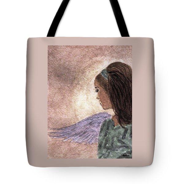 Whisper Of Wings Tote Bag by Angela Davies