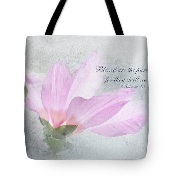 Whisper To Me With Verse Tote Bag by Debbie Portwood