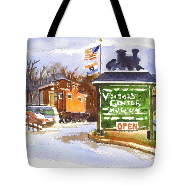 Whistle Junction in Ironton Missouri Tote Bag by Kip DeVore