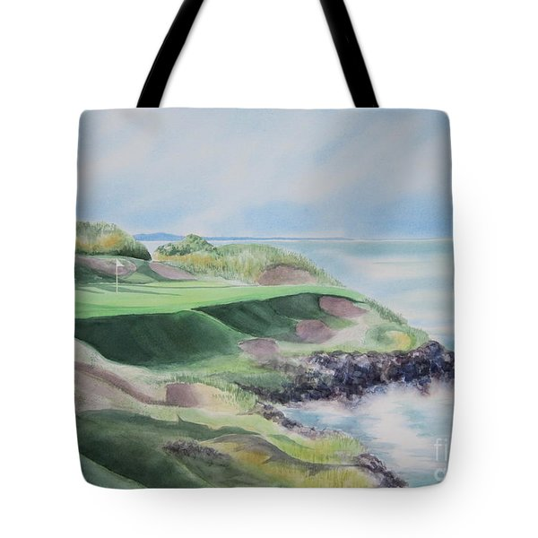 Whistling Straits 7th Hole Tote Bag by Deborah Ronglien