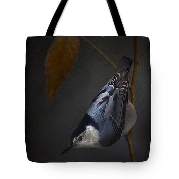 White Breasted Nuthatch Tote Bag by Ron Jones