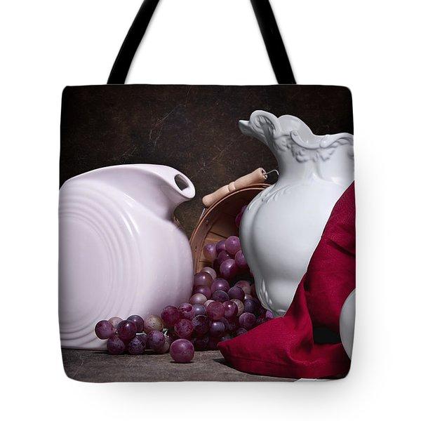 White Ceramic Still Life Tote Bag by Tom Mc Nemar