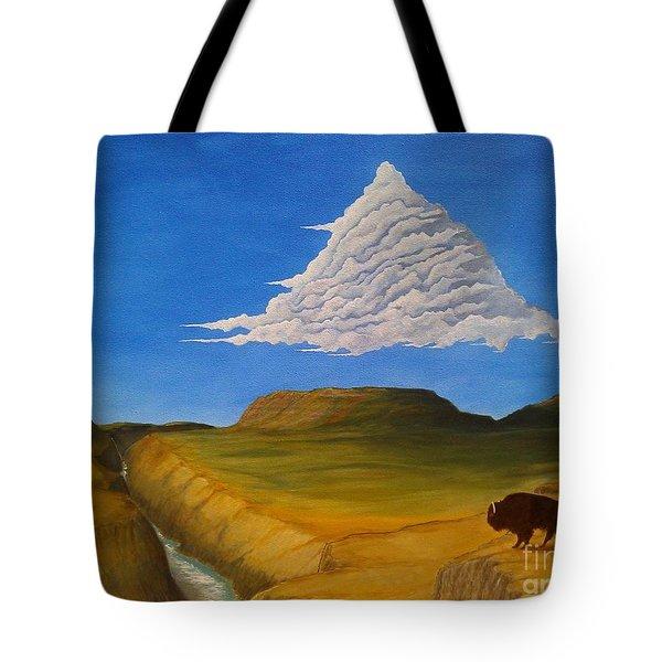 White Cloud Tote Bag by John Lyes