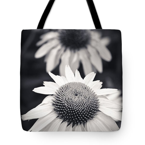 White Echinacea Flower Or Coneflower Tote Bag by Adam Romanowicz