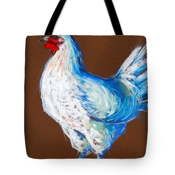 White Hen Tote Bag by Mona Edulesco