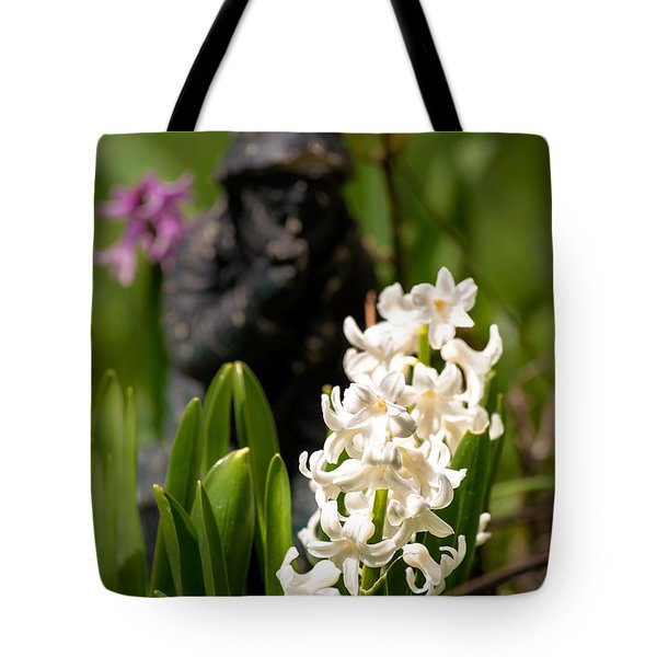 White Hyacinth In The Garden Tote Bag by  Onyonet  Photo Studios