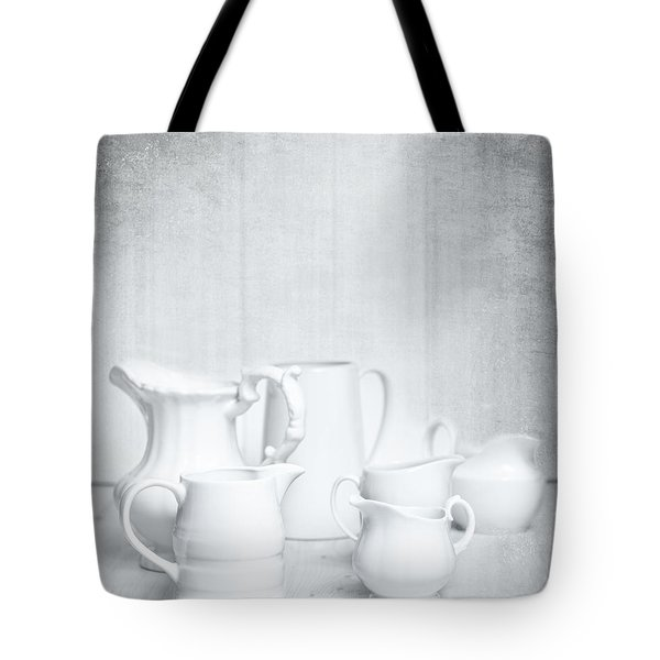 White Jugs Tote Bag by Amanda And Christopher Elwell