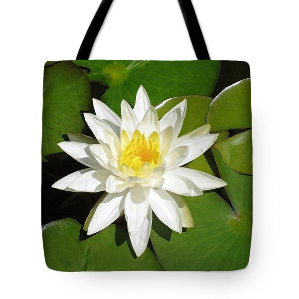 White Lotus Tote Bag by Ellen Henneke