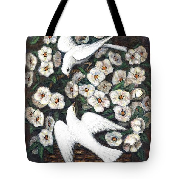 White On White Tote Bag by Linda Mears