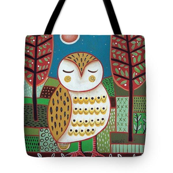 White Owl Tote Bag by Karla Gerard