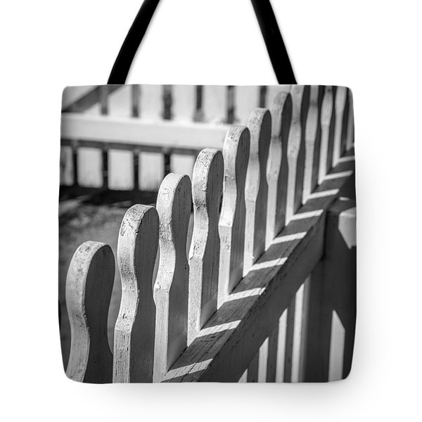 White Picket Fence Portsmouth Tote Bag by Edward Fielding