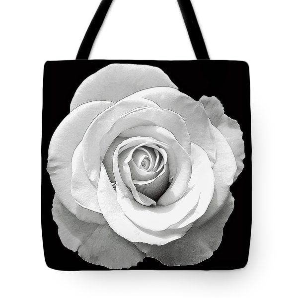 White Rose Tote Bag by Aimee L Maher Photography and Art